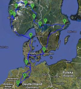 Die mySUMMIT Reiseroute durch Schweden und Norwegen!