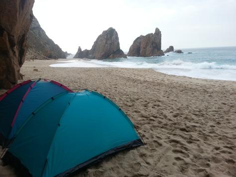 Zelten am Strand