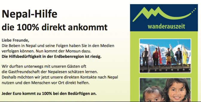 Nepal Hilfe